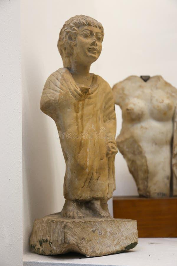 男孩法规希腊罗马在埃及博物馆 库存照片