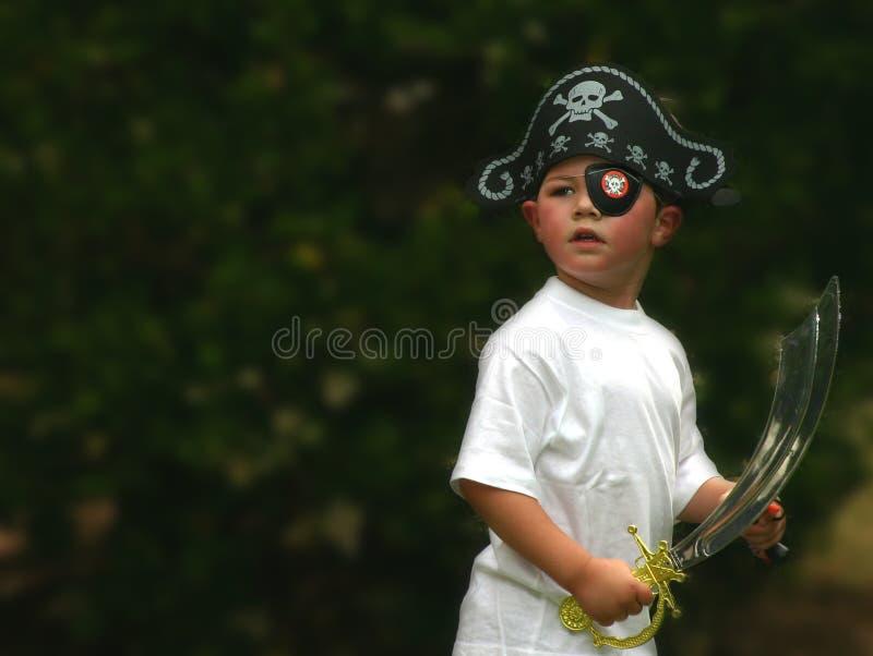 男孩海盗 免版税库存图片