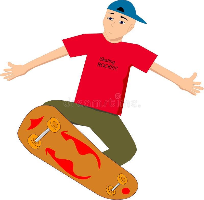 男孩溜冰者 免版税库存照片