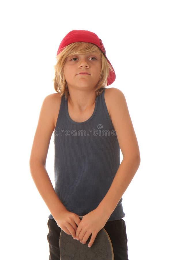 男孩滑板 免版税图库摄影