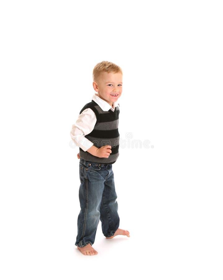 男孩牛仔裤 免版税图库摄影