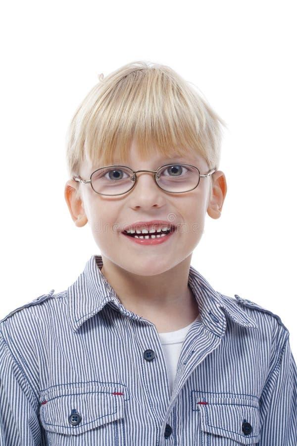 男孩玻璃 免版税图库摄影