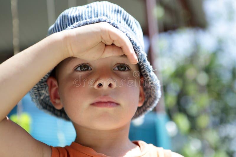 男孩的纵向 免版税库存图片