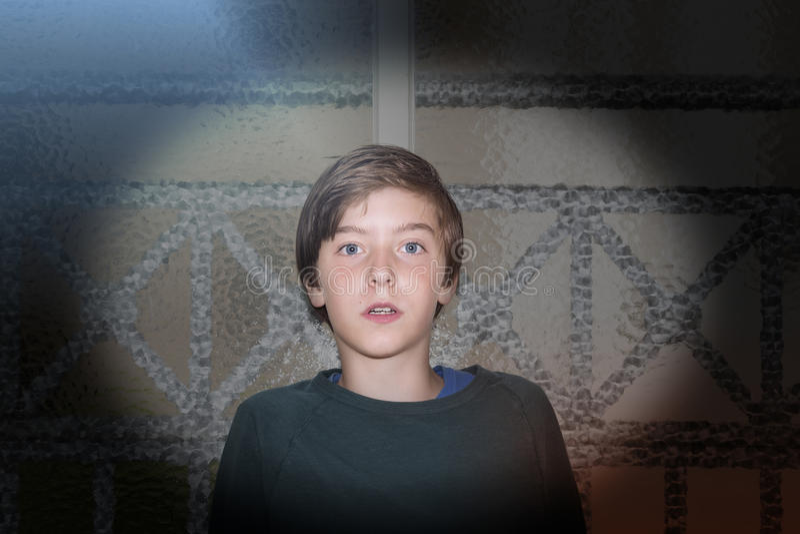 男孩的纵向 库存照片