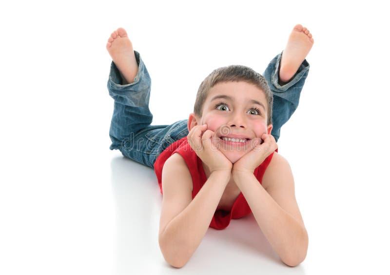 男孩眼睛明亮的年轻人 免版税库存图片