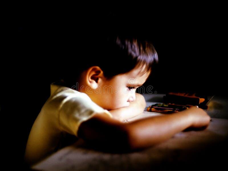 男孩着色 库存图片