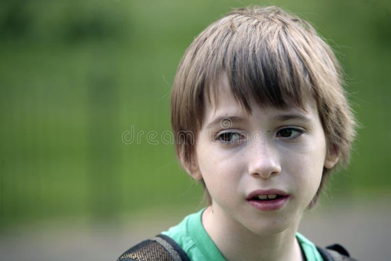 男孩纵向结构 免版税图库摄影
