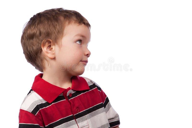 男孩纵向配置文件年轻人 免版税库存照片