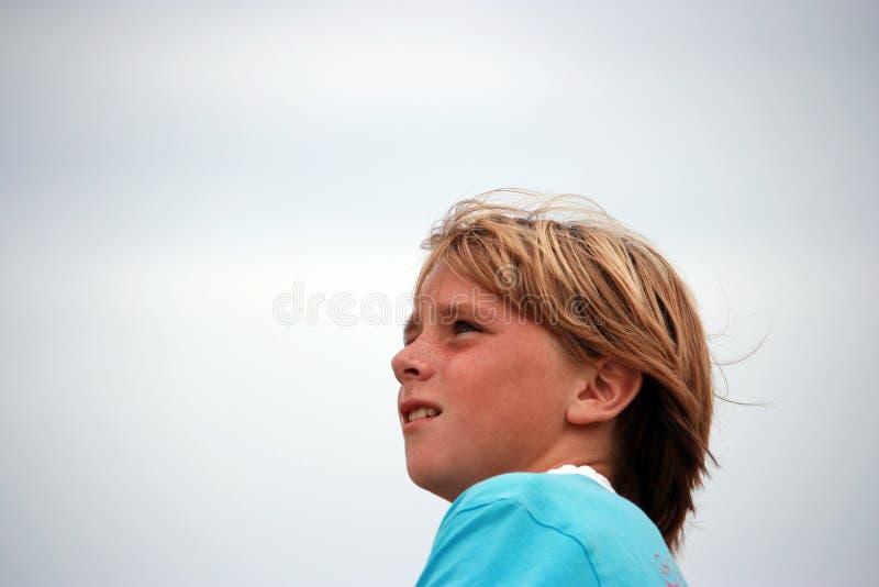 男孩纵向 免版税库存照片