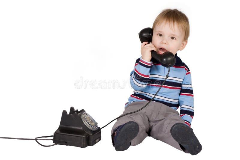 男孩联系 免版税库存照片