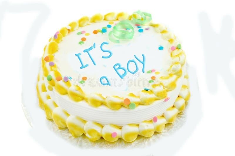 男孩蛋糕欢乐s 免版税库存照片
