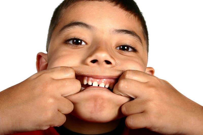 男孩表达式脸面护理 免版税库存照片