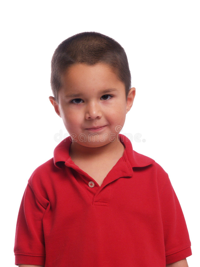 男孩讲西班牙语的美国人纵向 免版税库存照片
