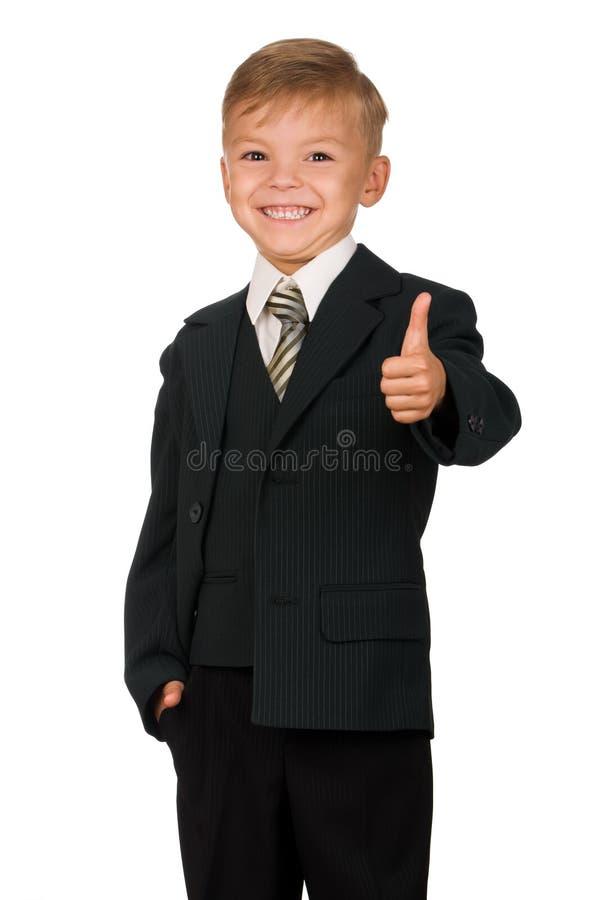 男孩诉讼 库存照片