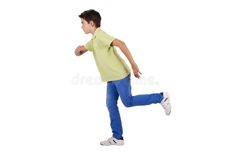 男孩赛跑 免版税库存图片
