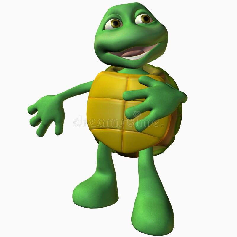 男孩逗人喜爱的创伤乌龟 皇族释放例证