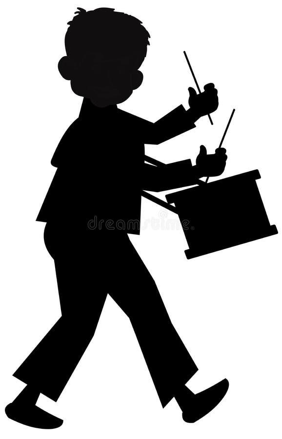 男孩鼓手一点 免版税库存照片