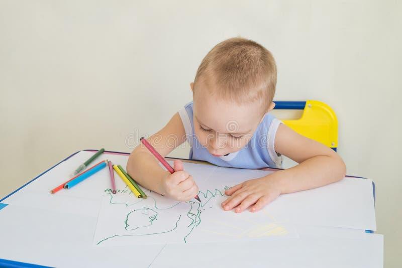 男孩画 免版税图库摄影