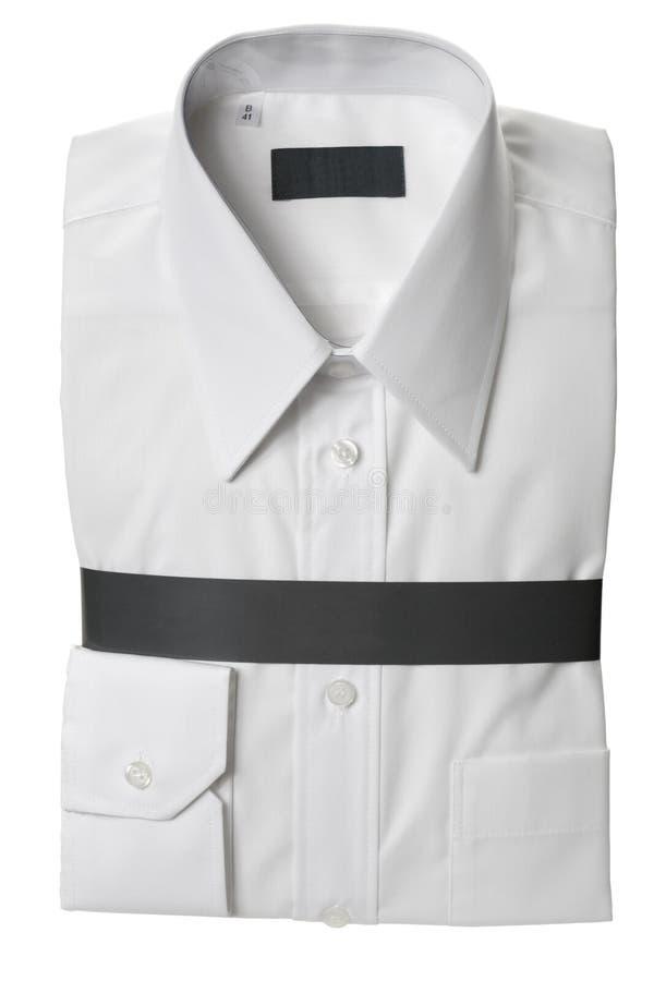 男式衬衫白色 免版税图库摄影