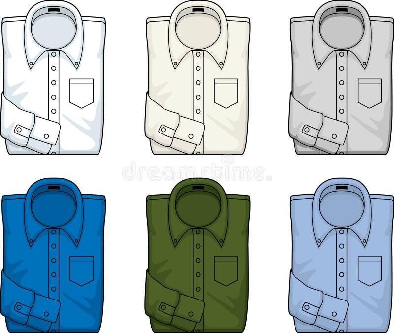 男式衬衫 向量例证
