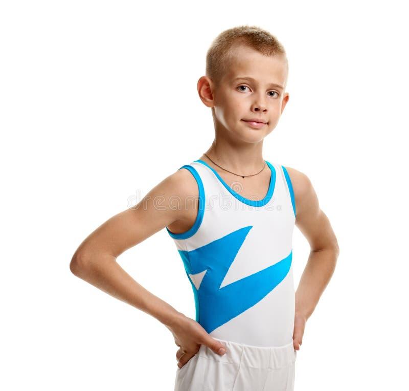 年轻男性体操运动员 库存照片