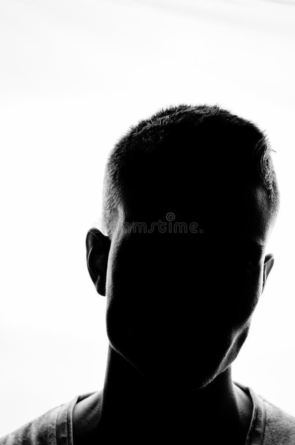 男性剪影画象 免版税库存图片