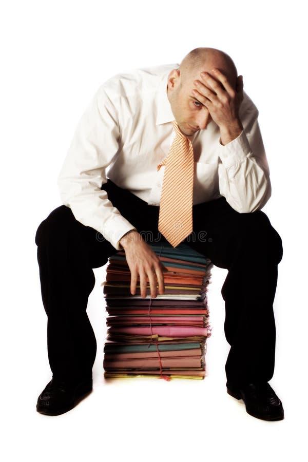 男性办公室工作者 免版税库存图片