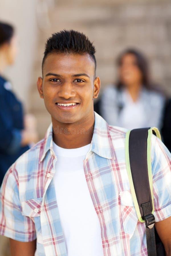 男性印地安学生 免版税库存图片