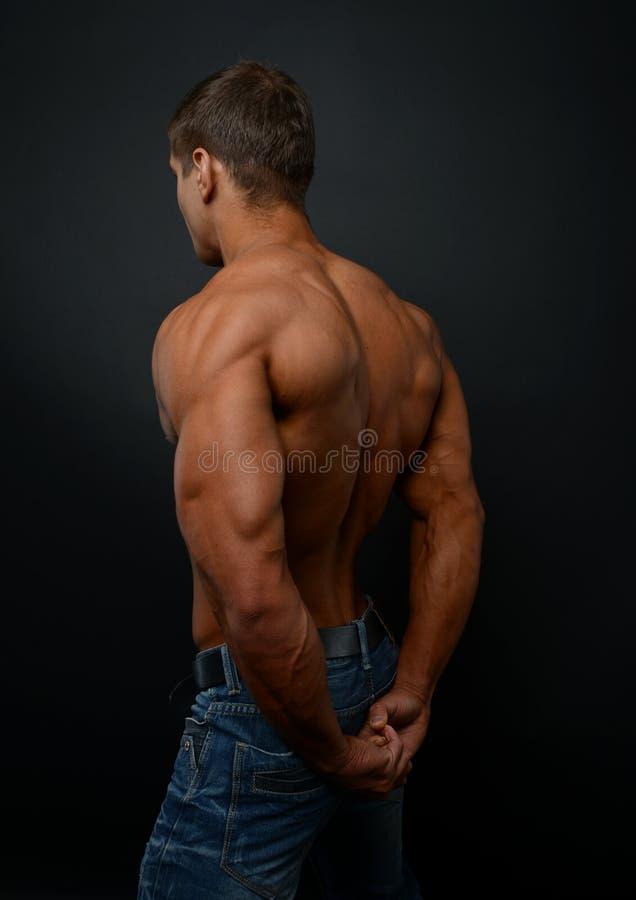 男性后面 图库摄影