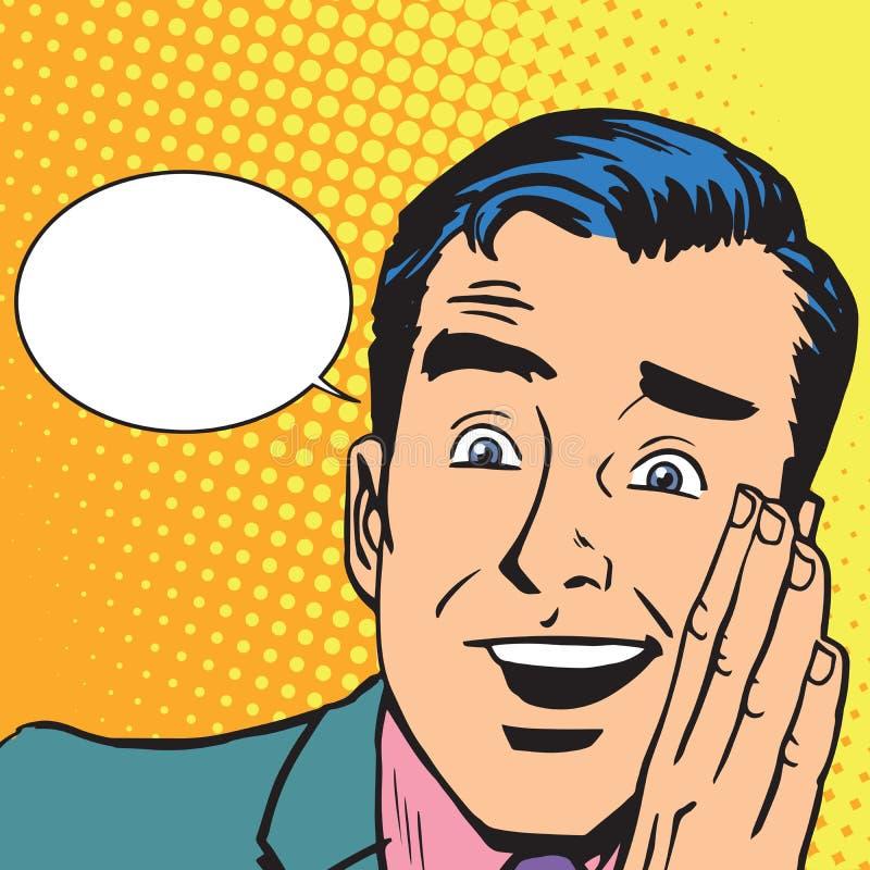 男性听力闲话 向量例证