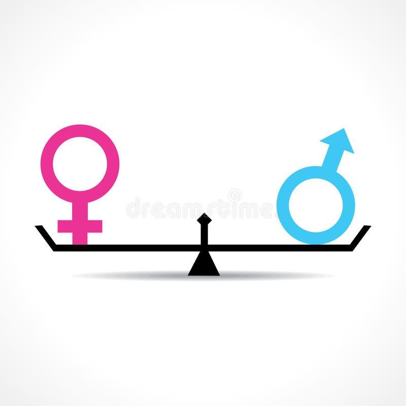 男性和女性平等概念 库存例证
