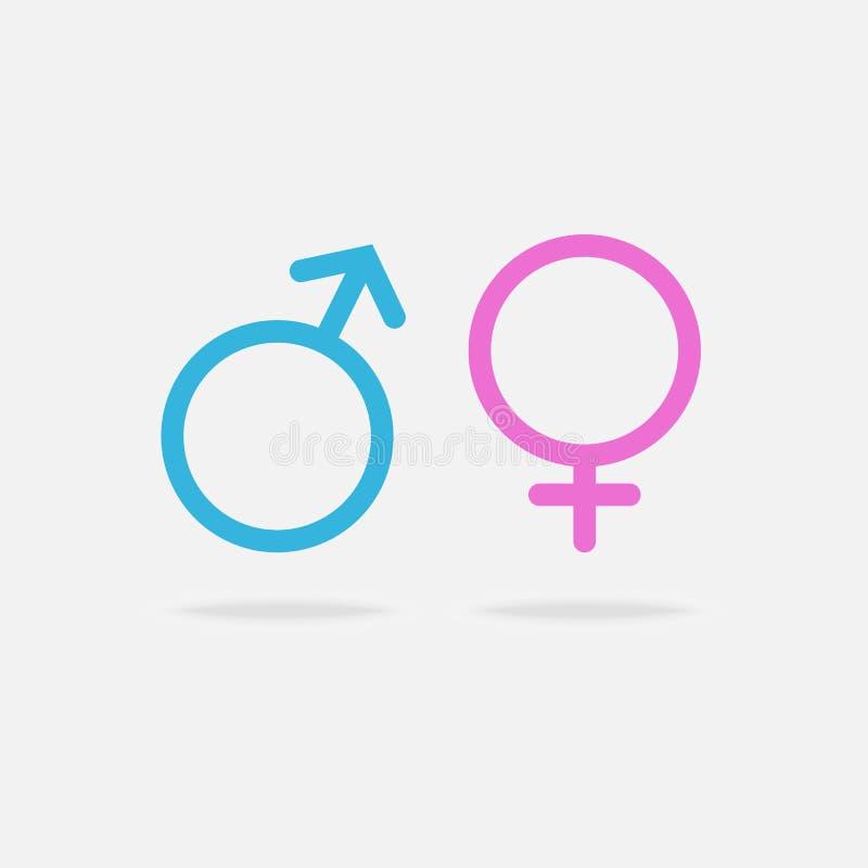 男性和女性性意向象 皇族释放例证