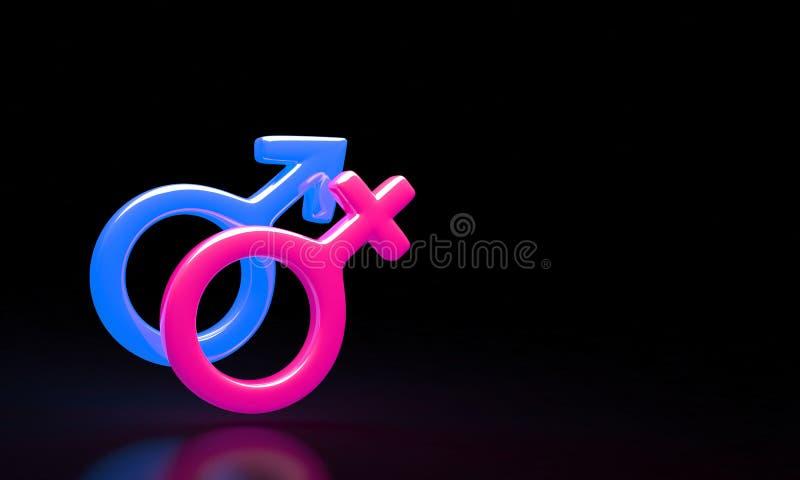 男性和女性标志组合 免版税图库摄影