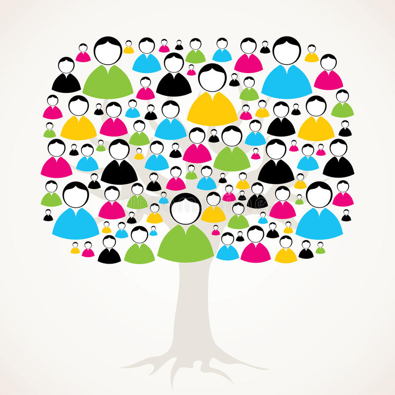 男性和女性消息结构树 皇族释放例证