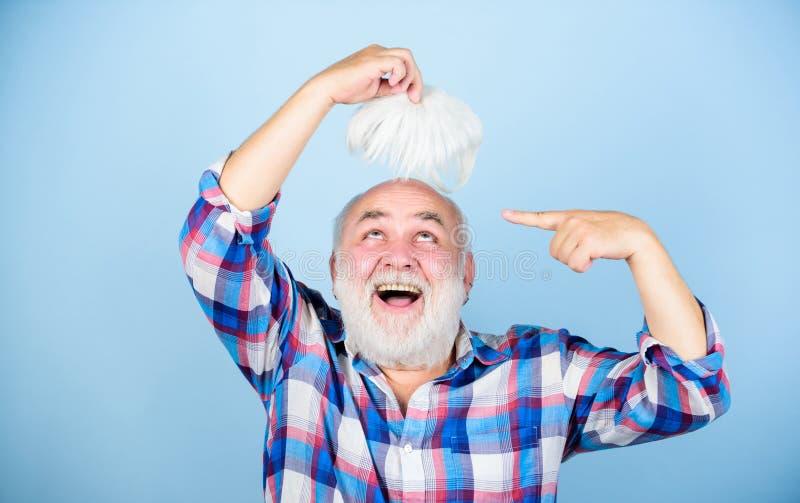 男性品种因素造成的样式光秃基因情况 r 老年人 r 库存照片