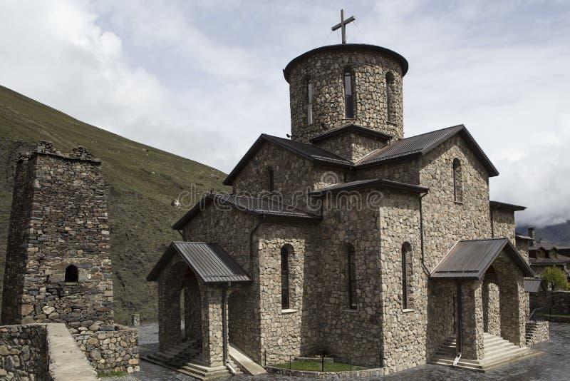 男性圣洁Dormition修道院在村庄Alanian Hidikus 免版税库存照片