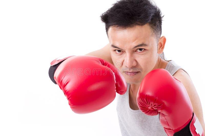 男性拳击手,人战斗机 库存图片