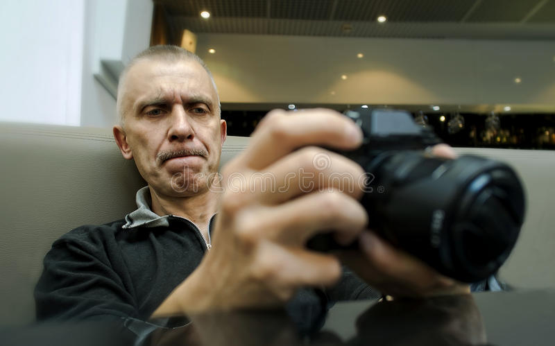 男性摄影师 库存照片