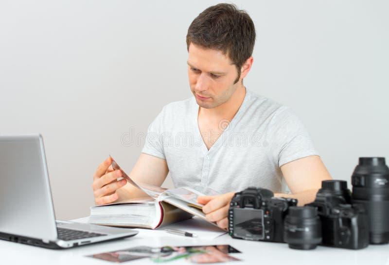 男性摄影师 免版税库存照片