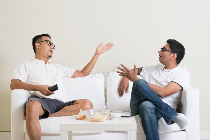 男性朋友争论 免版税库存照片