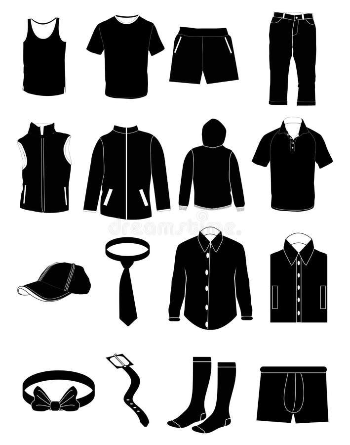 男性服装 库存例证