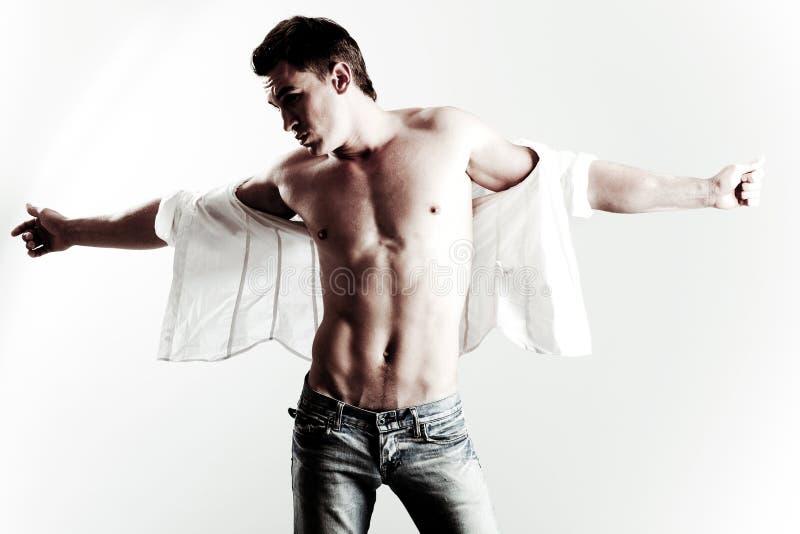 男性模型时髦的年轻人 库存图片