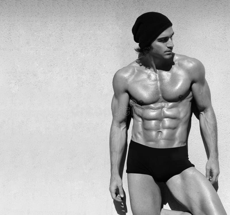 男性模型赤裸上身 库存照片