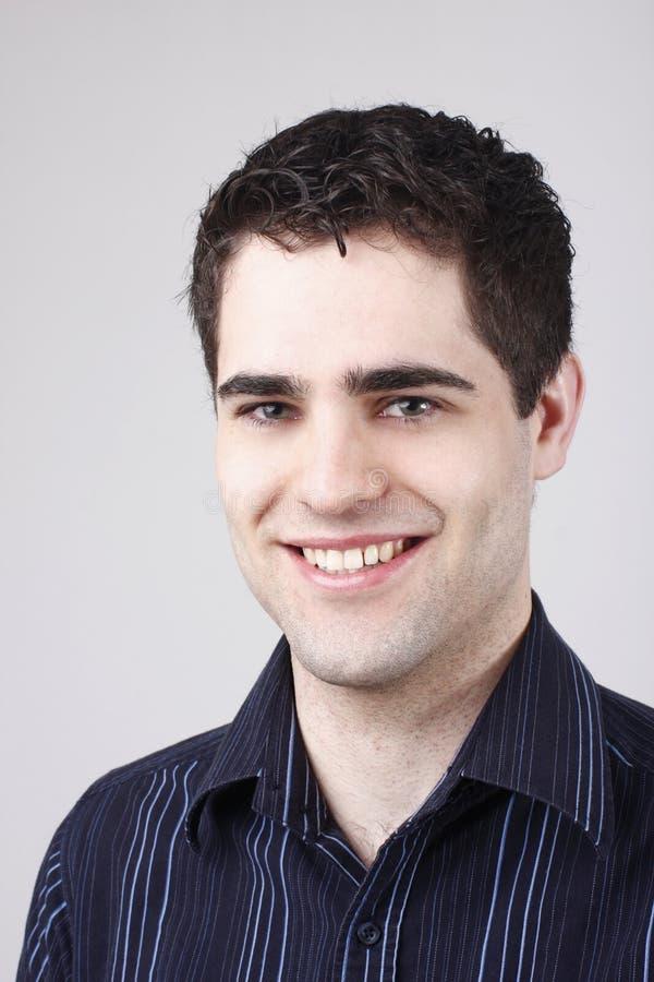 男性纵向年轻人 免版税库存图片