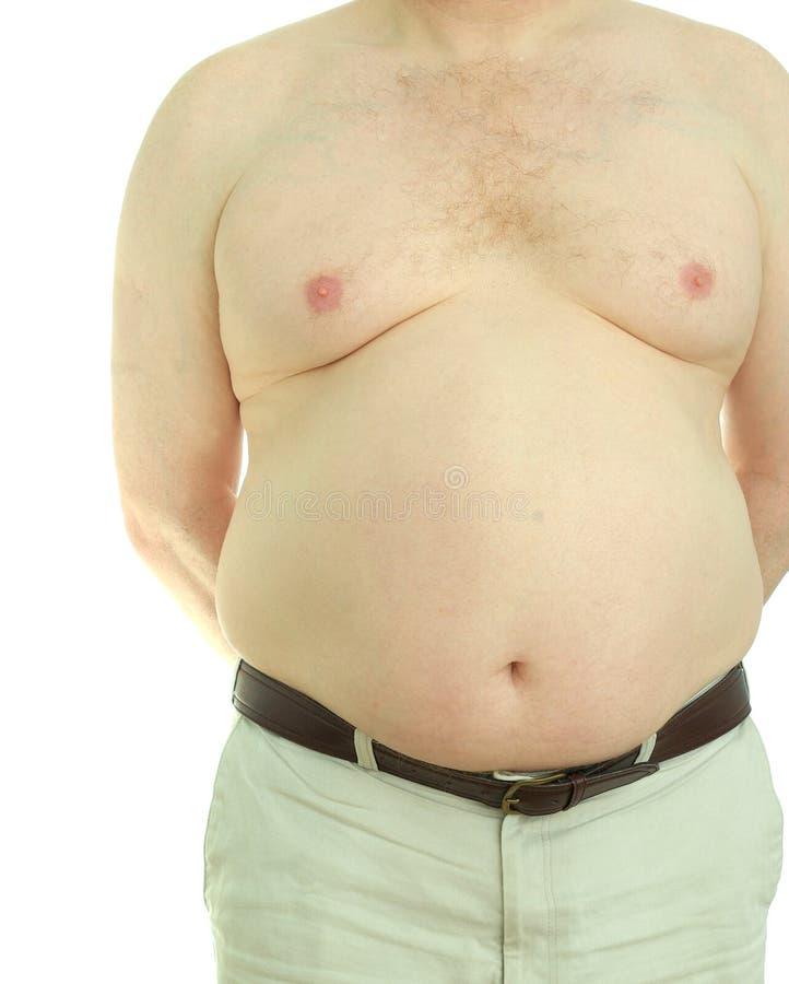 男性肥胖病 库存照片