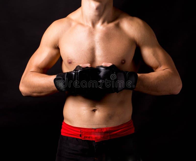 男性设计 kickboxing的 免版税库存照片