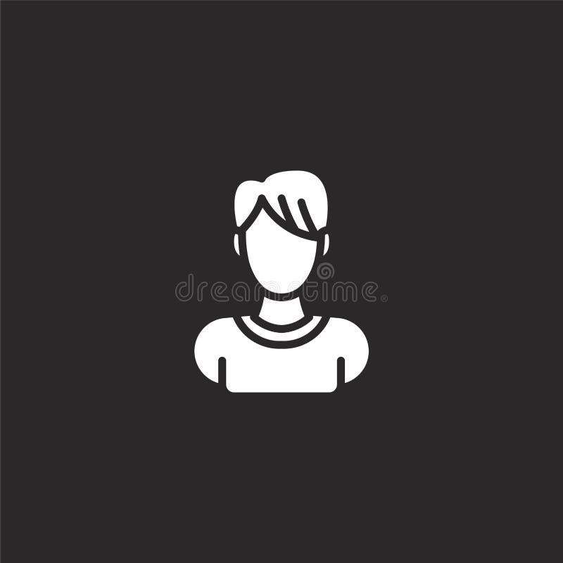 男性象 网站设计和机动性的,应用程序发展被填装的男性象 从被填装的外形占位符收藏的男性象 皇族释放例证