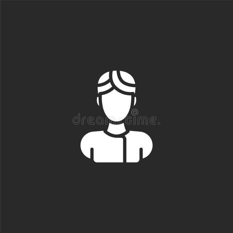 男性象 网站设计和机动性的,应用程序发展被填装的男性象 从被填装的外形占位符收藏的男性象 向量例证