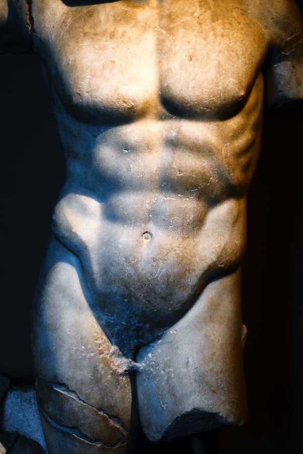男性雕象 库存图片