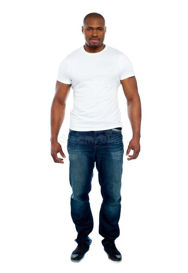 男性非洲人全长纵向 库存照片